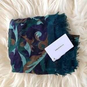 Emilio Pucci Green Printed Cashmere Blend Scarf